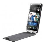 Кожаный чехол вертикальная книжка с защёлкой для HTC Desire 700
