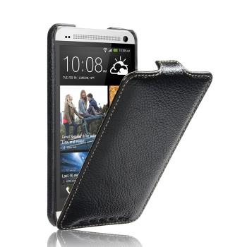 Кожаный чехол вертикальная книжка (нат. кожа) для HTC One (М7) Dual SIM