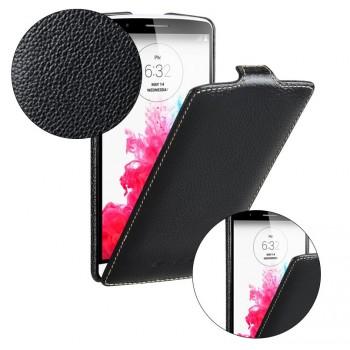 Кожаный чехол вертикальная книжка с защёлкой для LG G3 (Dual-LTE)