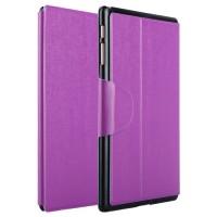 Чехол подставка на пластиковой основе со слотом для карт и застежкой текстурный Silk для Samsung Galaxy Tab S 10.5 Фиолетовый