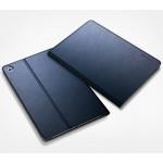 Чехол смарт флип подставка текстура Металлик на поликарбонатной основе для Nokia N1