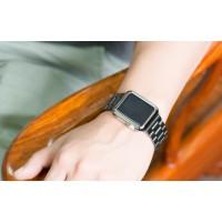Ультратонкая 0.6 мм поликарбонатная накладка с металлизированным покрытием для Apple Watch 42мм Черный