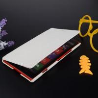 Кожаный чехол горизонтальная книжка с отделением для карт для Nokia Lumia 1520 Белый