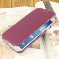 Кожаный чехол горизонтальная книжка с отделением для карт для Samsung Galaxy Mega 5.8 Фиолетовый