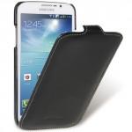 Кожаный чехол вертикальная книжка с защёлкой для Samsung Galaxy Mega 5.8