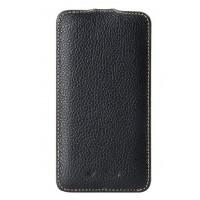 Кожаный чехол вертикальная книжка с защёлкой для LG Optimus G2 Черный