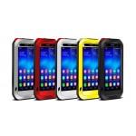 Антиударный пылевлагозащищенный гибридный премиум чехол силикон/металл/закаленное стекло для Huawei Honor 6