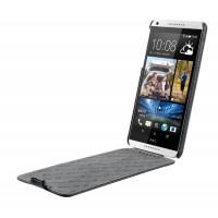 Кожаный чехол вертикальная книжка с защёлкой для HTC Desire 816 Черный