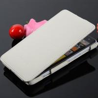Кожаный чехол вертикальная книжка с защёлкой для Nokia Lumia 625 Белый
