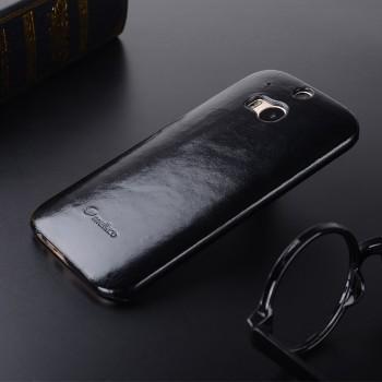 Кожаный вощеный чехол накладка Back Cover для HTC One (M8)