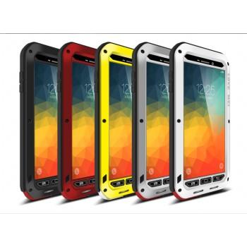 Антиударный пылевлагозащищенный гибридный премиум чехол силикон/металл/закаленное стекло для Samsung Galaxy Note 5