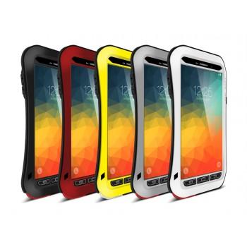 Антиударный пылевлагозащищенный гибридный эргономичный премиум чехол силикон/металл/закаленное стекло для Samsung Galaxy Note 5