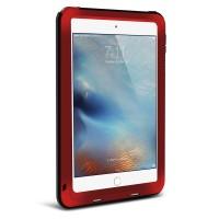 Антиударный пылевлагозащищенный гибридный премиум чехол силикон/металл/закаленное стекло для Ipad Mini 4 Красный