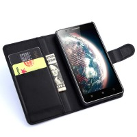 Чехол портмоне подставка с защелкой для Lenovo A536 Ideaphone Черный