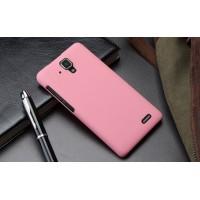 Пластиковый матовый непрозрачный чехол для Lenovo A536 Ideaphone Розовый