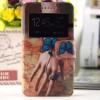 Чехол флип с окном вызова и магнитной застежкой с принтом для Microsoft Lumia 535