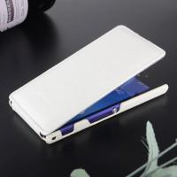 Кожаный чехол вертикальная книжка для Sony Xperia M2 dual Белый