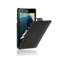 Кожаный чехол вертикальная книжка для Sony Xperia ZR