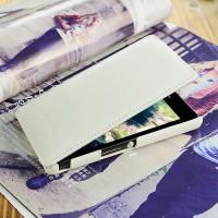 Кожаный чехол вертикальная книжка для Sony Xperia ZR Белый