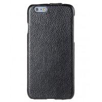 Кожаный чехол вертикальная книжка для Iphone 6 Черный