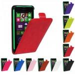 Чехол вертикальная книжка на пластиковой основе для Nokia Lumia 630/635