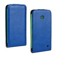 Чехол вертикальная книжка на пластиковой основе для Nokia Lumia 630/635 Синий