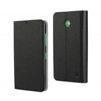 Чехол флип подставка на пластиковой основе для Nokia Lumia 630/635 Черный