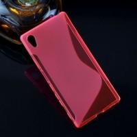 Силиконовый S чехол для Sony Xperia Z5 Розовый