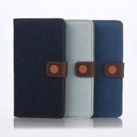 Тканевый чехол портмоне подставка с дизайнерской застежкой серия Color Jeans для Sony Xperia Z5