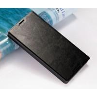 Чехол флип подставка водоотталкивающий для Sony Xperia Z5 Черный