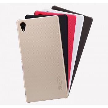 Пластиковый матовый нескользящий премиум чехол для Sony Xperia Z5