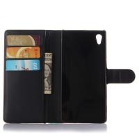 Чехол портмоне подставка с защелкой для Sony Xperia Z5 Черный