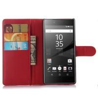 Чехол портмоне подставка с защелкой для Sony Xperia Z5 Красный