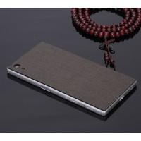 Клеевая кожаная накладка для Sony Xperia Z5 Черный