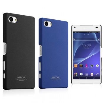 Пластиковый матовый чехол с повышенной шероховатостью для Sony Xperia Z5 Compact