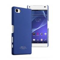 Пластиковый матовый чехол с повышенной шероховатостью для Sony Xperia Z5 Compact Синий