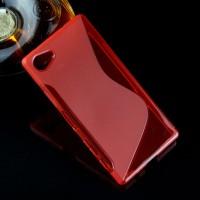 Силиконовый S чехол для Sony Xperia Z5 Compact Красный