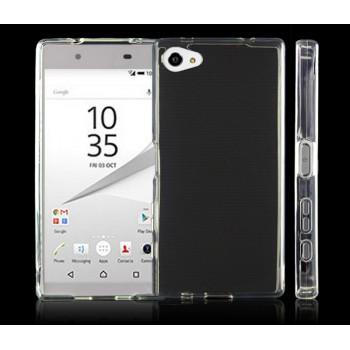 Силиконовый матовый полупрозрачный чехол с точечной структурой для Sony Xperia Z5 Compact