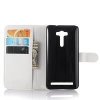 Чехол портмоне подставка с защелкой для ASUS Zenfone 2 Laser 5.5 ZE550KL Белый