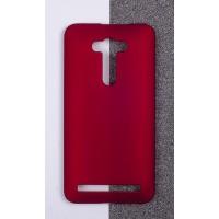 Пластиковый матовый непрозрачный чехол для ASUS Zenfone 2 Laser 5.5 ZE550KL Красный