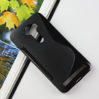 Силиконовый S чехол для ASUS Zenfone 2 Laser 5.5 ZE550KL Черный