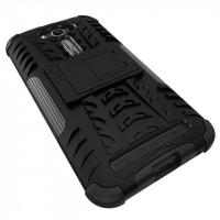 Антиударный силиконовый чехол экстрим защита с подставкой для ASUS Zenfone 2 Laser 5 ZE500KL Черный