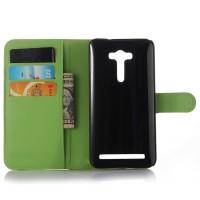 Чехол портмоне подставка с защелкой для ASUS Zenfone 2 Laser 5 ZE500KL Зеленый