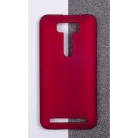 Пластиковый матовый непрозрачный чехол для ASUS Zenfone 2 Laser 5 ZE500KL Красный