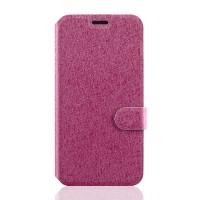 Текстурный чехол флип подставка с застежкой и отделением для карт для ASUS Zenfone 2 Laser 5 ZE500KL Пурпурный