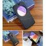 Чехол флип подставка на силиконовой основе с круглым окном вызова текстура Линии для ASUS Zenfone 2 Laser 5.5 ZE550KL
