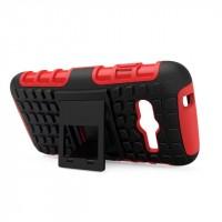 Антиударный силиконовый чехол экстрим защита с подставкой для Samsung Galaxy Ace 4 Красный
