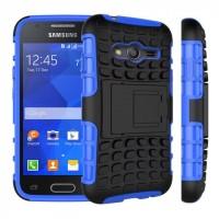 Антиударный силиконовый чехол экстрим защита с подставкой для Samsung Galaxy Ace 4 Синий