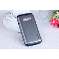Гибридный чехол с силиконовым каркасом и поликарбонатной накладкой для Samsung Galaxy Ace 4 Серый
