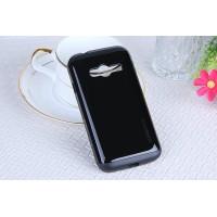 Гибридный чехол с силиконовым каркасом и поликарбонатной накладкой для Samsung Galaxy Ace 4 Черный